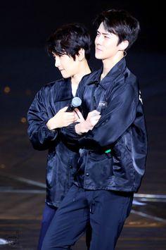 #Baekhyun, #Sehun - #160305 #Exoplanet #2 - The #EXO'luXion in #Dalian Credit: Asteria.
