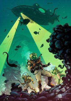 Captain Nimrod by Edward-55 on DeviantArt Digital Ink, Leagues Under The Sea, Days Of Future Past, Amazing Adventures, Illustrators, Spiderman, Deviantart, Creative, Jules Verne