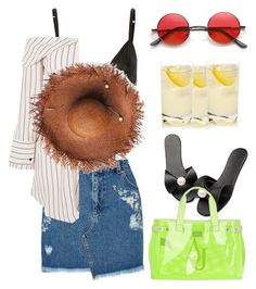 """""""Tropic Nights"""" by lablanchenoire ❤ liked on Polyvore featuring T By Alexander Wang, Miss Selfridge, Armani Jeans and Topshop"""