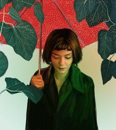"""""""La Rêveuse"""" Amelie inspired piece for """"La couleur de l'étrangeté: Jeunet & Caro"""" at Spoke Art"""