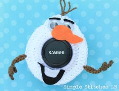 Olaf the Snowman Camera Lens Buddy by SimpleStitchesLB on Etsy, $10.00
