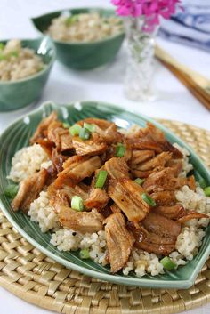 Braised Country Style Ribs Recipe in Ginger & Hoisin Sauce   cookincanuck.com #dinner
