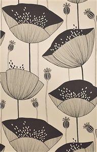 """Vallmo- blommande papperstapet """"MISP1063"""", 589 kr/rulle, Miss Print 2."""