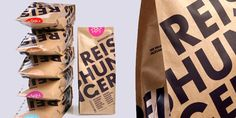 i like this package design and typography for Reishunger