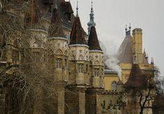 Medieval, Vajdahunyad Castle, Budapest, Hungary photo via owls