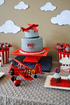 Plane Themed Boy's First Birthday Party - Spaceships and Laser Beams