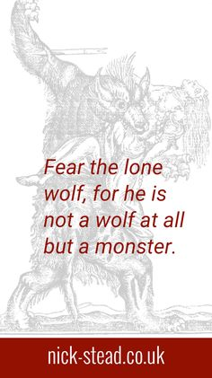 Quote from my short story 'Beasts of Bedburg' based on the true story of Peter Stubbe.