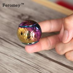 Colorful Football Fingertips Gyro Ball Hand Spinner Fidget Fingertip Spinner Edc Gyros Autism And Adhd Stress Relieve Toys