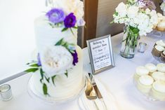 Blooms Florist, Purple Wedding Cakes, Our Wedding, Table Decorations, Weddings, Photo And Video, Floral, Instagram, Florals