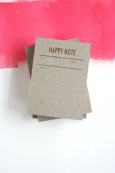 [TOKKETOK] happy notes // gold foiled notepads [photograph by tokketok]