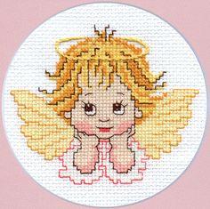 Сross-stitch pattern Little Angel by SashaLuda on Etsy