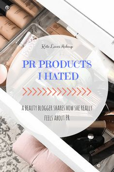 Beauty blogger Kate Loves Makeup spills the tea and shares all of the PR products she has received for free that she hated. Click through to learn more! #beautyblogger #makeup