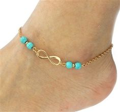 2016 New Ankle Bracelet Summer Style Turquoise Beads Chain On Foot Anklet Jewelry Bracelet On A Leg Anklets For Women Cheville - B E S T Online Marketplace - SaleVenue Beaded Anklets, Beaded Jewelry, Chain Jewelry, Jewelry Case, Fine Jewelry, Gold Anklet, Jewelry Bracelets, Beach Bracelets, Jewelry Watches