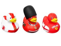 "Bud Set of 3 Mini Rubber Duck Bath Tub Toy, England by BUD. $10.74. Set of 3 printed rubber ducks. Made from phthalate free pvc. The world's most collectible rubber duck. Packaged in a transparent gift box. Measures 2.4"" tall. Bud Ducks are the world's most collectible rubber duck. The classic rubber duck has been given a deluxe designer make over by Bud at the DesignRoom. England ducks come in red and white and are decorated to represent the England flag and Royal Gu..."