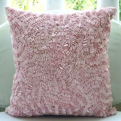 Pink Paradise  Throw Pillow Covers  16x16 Inches by TheHomeCentric, $29.75