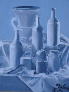 Monochromatic Still Life by MilkwayKitty on DeviantArt Monochromatic Paintings, Monochrome Painting, Monochromatic Color Scheme, Ap Studio Art, Art Society, Painting Still Life, Art Portfolio, Art Club, Art Sketchbook