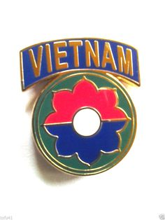 ** 9th INFANTRY DIVISION VIETNAM **  Military Veteran US ARMY Hat Pin P12609 EE