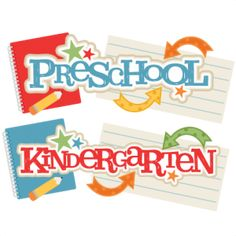 {Daily FREE Cut File} Preschool & Kindergarten Titles - available for FREE today only, August 10