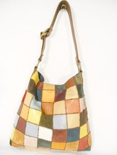 Lucky Brand Xlarge Tote Satchel Purse Patchwork Color Block Shopper Leather | eBay