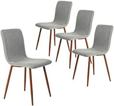Best Seller Dining Chairs Kitchen Chairs Set 4 Modern Dining Room Side Chairs Fabric Cushion Seat Back, Mid Century Living Room Chairs Brown Metal Legs, Gray online - Toplikestore Fabric Dining Chairs, Leather Dining Chairs, Modern Dining Chairs, Chair Fabric, Kitchen Chairs, Living Room Kitchen, Dining Chair Set, Table And Chairs, Side Chairs