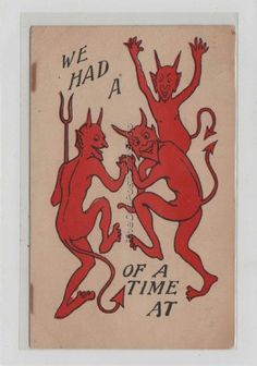 DEVILS Celebrating ~ We Had A ... of A Good Time UDB UN ... - bidStart (item 33711709 in Postcards, Other / Unsorted)