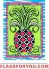 Harlequin Pineapple Garden Flag