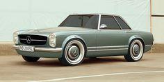 Zolland Design comes out with retro 'Pagoda' conversion for Mercedes SL – auto Mercedes 230, Mercedes Auto, Classic Mercedes Benz, Auto Leasing, Benz Amg, Automobile, Cabriolet, Chevrolet Corvette, Maserati