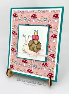 Snail Cards, Bird Cards, Card Making Templates, Beautiful Handmade Cards, Animal Cards, Snail Mail, Blue Line, Card Tags, Stamping Up