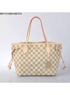 Louis Vuitton Knockoff White Damier Azur Canvas Neverfull PM Bag N51110