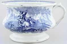 Antique chamber pot ~ Lovers of Blue & White