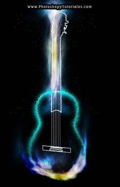 Tutorial de Photoshop CS5: Dibujar una guitarra luminosa | Blog de diseño: Photoshop y Tutoriales