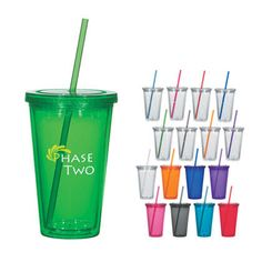 Who doesn't love these environmentally friendly cups? These are a big promo hit! Personalized Tumblers, Custom Tumblers, Plastic Tumblers, Plastic Mugs, Acrylic Tumblers, Oil Based Sharpie, Insulated Tumblers, Acrylic Material, Travel Mugs