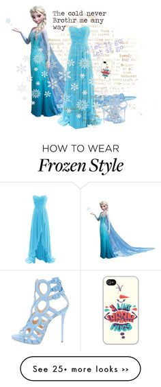 """""""elsa"""" by mangos-and-pumpkins on Polyvore featuring Disney and Giuseppe Zanotti"""