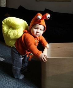 Verkleidung Baby-Kleinkinder Schnecke-Selbst gemacht-Ideen