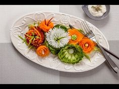 """""""How to make a beautiful side dish."""" Tutorial Visualfood - YouTube"""