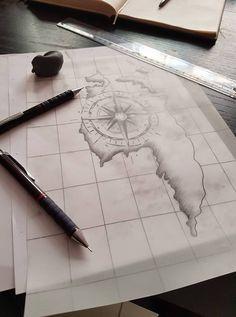 Ready to tattooing http://instagram.com/karincatattoo #tattoo #design #blackdesign #compass #tattoos #anchor #map #tattooed #istanbul #kadıköy #acıbadem #dövme #dovmeci