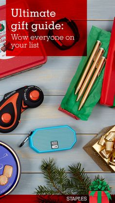 Another year, another shopping season. And the list just keeps getting longer. Tech lovers and fashionistas. Teachers and office managers. The infamous Yankee Swap. Whoever's on your list this year, Staples has great ideas — and great prices — to make you a holiday success.
