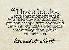 I love a good book