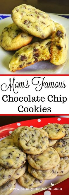 Searching for the best cookie recipe? Look no further and give my Mom's Famous Chocolate Chip Cookies a try! They really are the best!