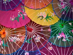 silk umbrellas for looking pretty in the sun but not the rain