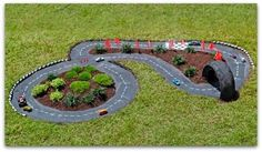 Make a race car track. | 51 Budget Backyard DIYs That Are Borderline Genius