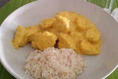 Ronald saved to shopMango-Kokos-Curry mit Hähnchen - Chapati, Healthy Food Recipes, Salad Recipes, Mango Curry, Fondue Recipes, Soul Food, I Foods, Quinoa, Low Carb