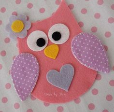 Nice owl pattern for needle book Owl Crafts, Diy And Crafts, Crafts For Kids, Arts And Crafts, Fabric Crafts, Sewing Crafts, Paper Crafts, Craft Projects, Sewing Projects