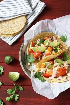 Lobster Tacos with Chipotle Crema | In Sock Monkey Slippers @caciqueinc #GoAutentico #SoCu