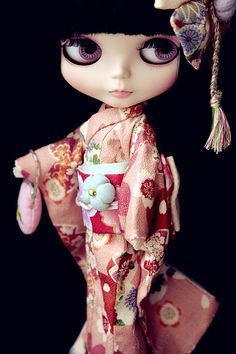 #blythe: Custom Blythe by euniceeva    I'm about to have tea....you? :D