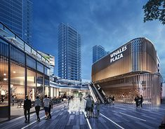 Whales Plaza on Behance Shopping Mall Architecture, Retail Architecture, Architecture Graphics, Architecture Design, Landscape Architecture, Commercial Complex, Commercial Street, Shopping Street, Street Mall