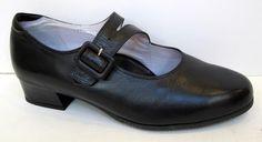 BeautiFeel Black Leather Mary Jane Buckle Pump Size 40/US 9-9.5 #BeautiFeel #MaryJanes