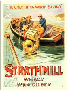 Strathmill whisky ad recalls the days of smuggling alcohol into England from France