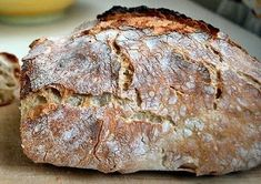 No-knead bread o Pane senza impasto Brunch Recipes, Bread Recipes, Cooking Recipes, Yummy Snacks, Yummy Food, Focaccia Pizza, Calzone, No Knead Bread, Artisan Bread