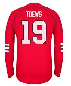 Reebok Jonathan Toews Chicago Blackhawks Red Edge Long Sleeve Jersey T-Shirt